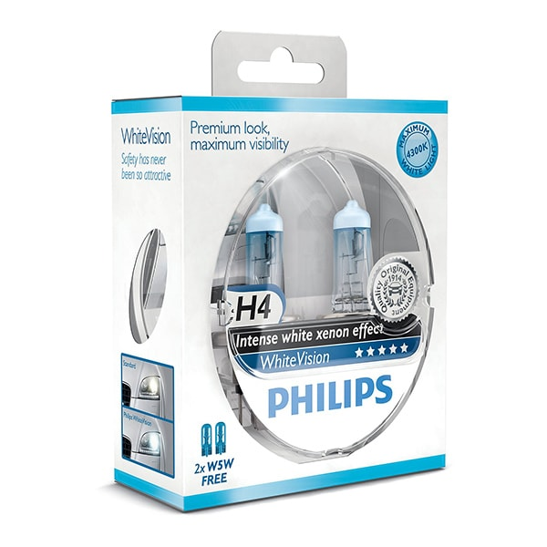 H4 Philips White Vision Intense Xenon