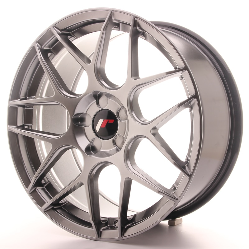 Complete wheel set of  JR18 Hiper black