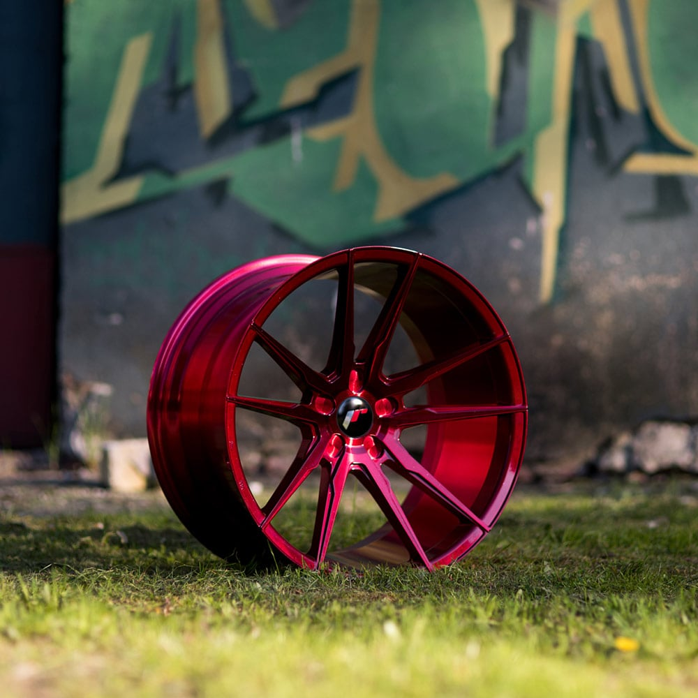Complete wheel set of  JR21 Platinum Red