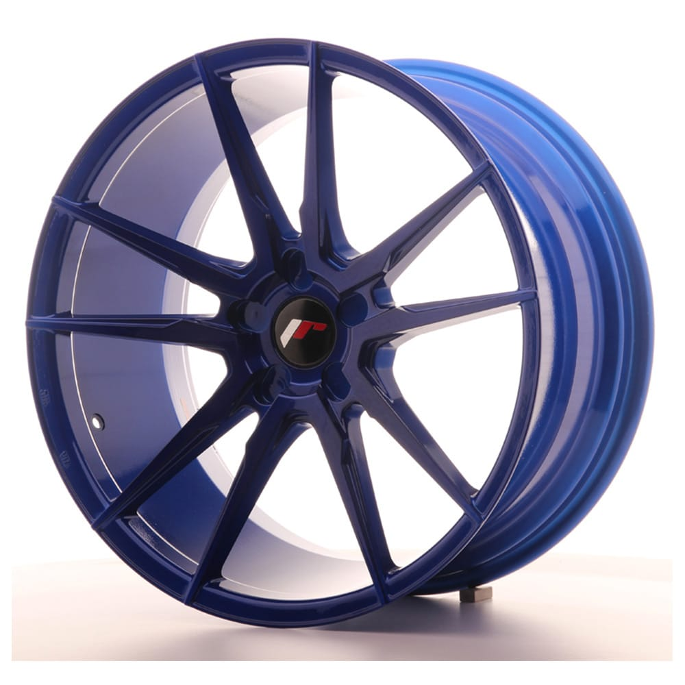 Complete wheel set of  JR21 Platinum Blue