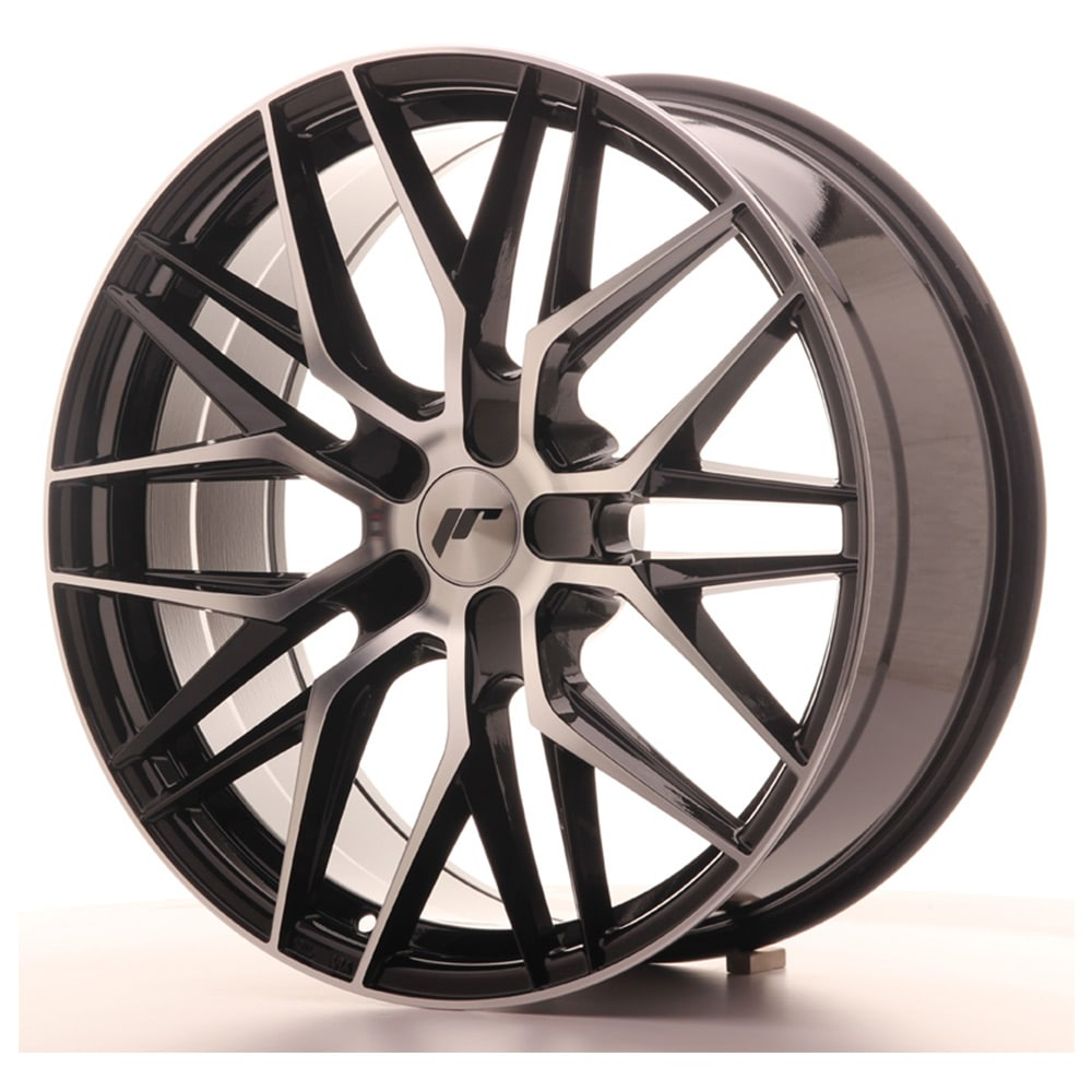 Complete wheel set of  JR28 Black Polish