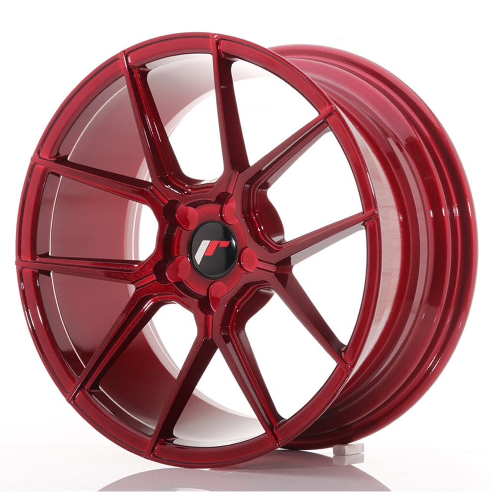 Complete wheel set of  JR30 Platinum Red