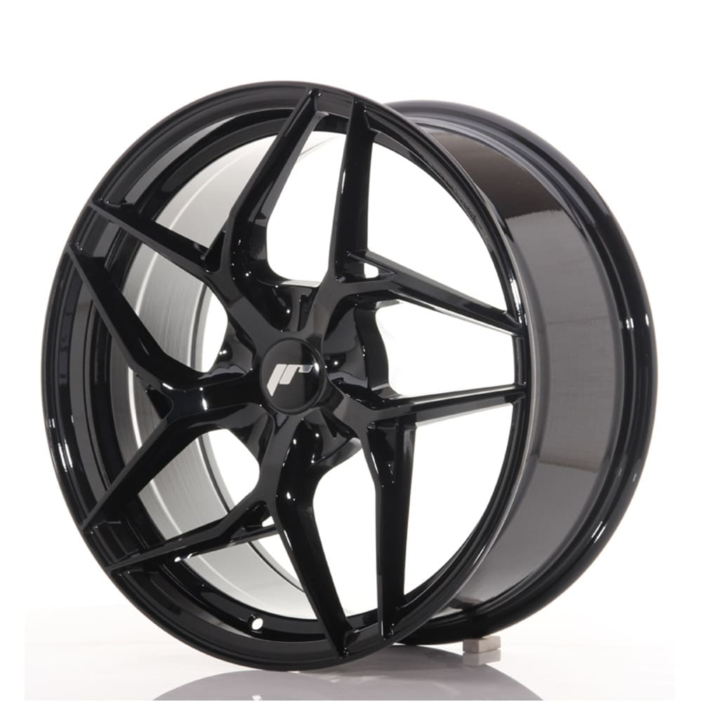 Complete wheel set of  JR35 Glossy black
