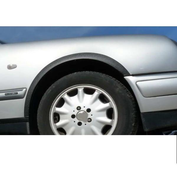 Svarta skärmkantlister Mercedes W116 (280,300)