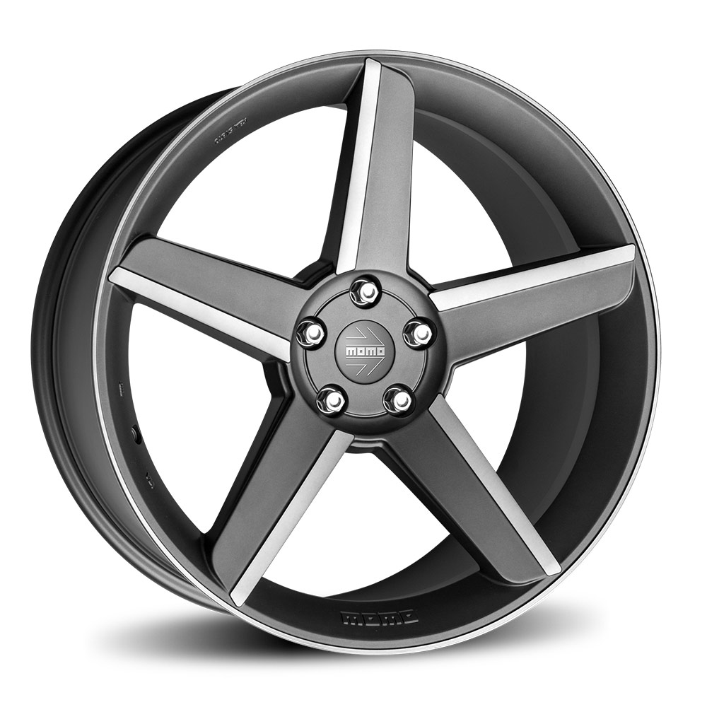 Complete wheel set of MOMO Stealth Anthracite