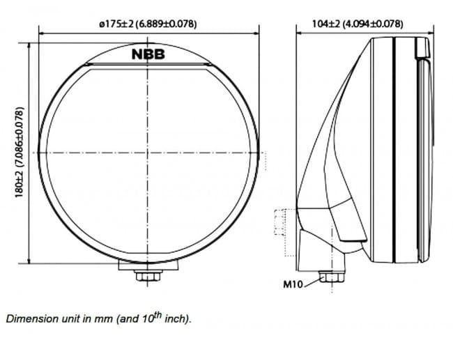 Extraljus Alpha 175 7´ LED - NBB