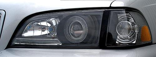Strålkastare Svart utförande Volvo S/V/C 70 97-00 USA