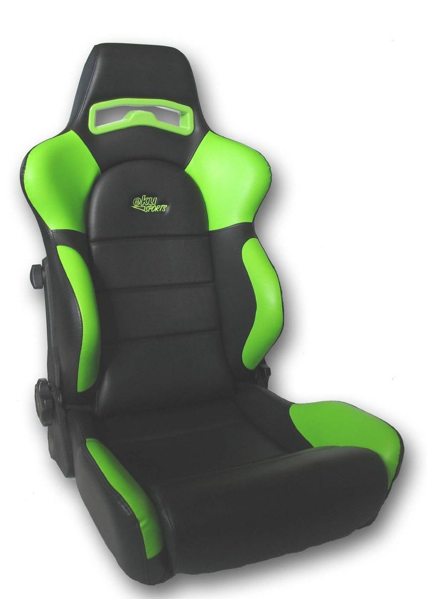 Sportstol läder Svart/Grön