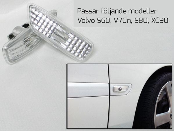 Skärmblinkers Klarglas Volvo